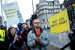 © Licensed to London News Pictures. 29/03/2018. London, UK. Christopher Wylie, the Cambridge Analytica whistleblower at the 'Rally for a Fair Vote', a demonstration on Parliament Square calling for evidence of cheating on either sides of the Brexit referendum to be brought forward. Cambridge Analytica is being investigated due to accusations of the misuse of Facebook user data to influence electoral outcomes. Photo credit : Tom Nicholson/LNP