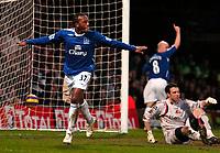 Photo: Ed Godden/Sportsbeat Images.<br /> Watford v Everton. The Barclays Premiership. 24/02/2007.<br /> Everton's Manuel Fernandes (L), celebrates scoring the first goal.