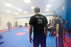 Pictures from the morning P1 grading at the International Krav Maga Federation grading and bus seminar on the 14th November 2010..The Bus Seminar and Grading was conducted by IKMF Chairman and Master Level Instructor, Avi Moyal, at the Scottish Martial Arts Centre, Dumyat Business Park, Tullibody..Pic ©2010 Michael Schofield. All Rights Reserved.
