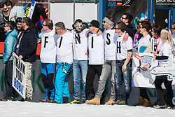 Retired Robert Kranjec supporters celebrates during Ski Flying Hill Team Competition at Day 3 of FIS Ski Jumping World Cup Final 2019, on March 23, 2019 in Planica, Slovenia. Photo by Peter Podobnik / Sportida