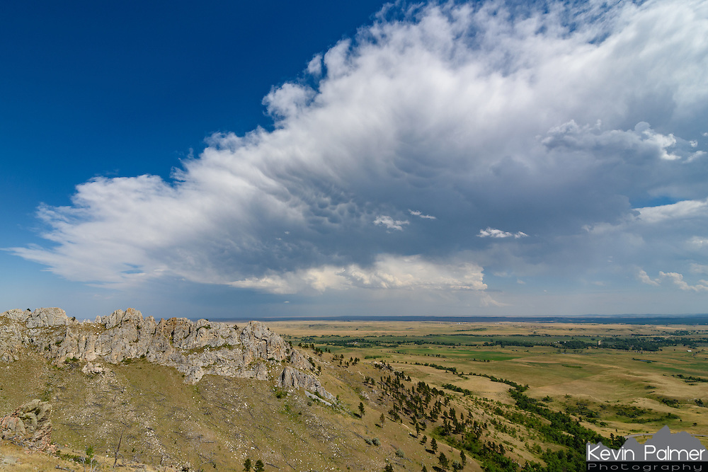 Bear Butte is a mountain outside of Sturgis, South Dakota. A severe thunderstorm was forming in the distance when I climbed it on a July afternoon.