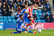 Gillingham FC forward Brandon Hanlan (7) and Sunderland forward Marc McNulty  (10) during the EFL Sky Bet League 1 match between Gillingham and Sunderland at the MEMS Priestfield Stadium, Gillingham, England on 7 December 2019.