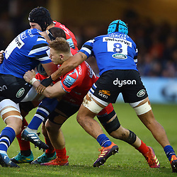 Jean-Luc du Preez of Sale Sharks during the Gallagher Premiership match between Bath Rugby and Sale Sharks at the The Recreation Ground Bath England.2nd December 2018,(Photo by Steve Haag Sports)