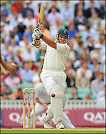 South Africa captain Graeme Smith pulls a Flintoff delivery against England  on the 7th of August 2008..Photo by Philip Brown.www.philipbrownphotos.com