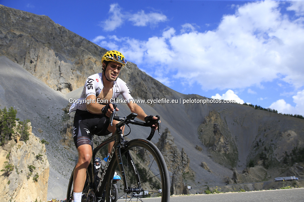Mikel Landa (ESP) Team Sky climbs through the Caisse Deserte on Col d'Izoard during Stage 18 of the 104th edition of the Tour de France 2017, running 179.5km from Briancon to the summit of Col d'Izoard, France. 20th July 2017.<br /> Picture: Eoin Clarke | Cyclefile<br /> <br /> All photos usage must carry mandatory copyright credit (&copy; Cyclefile | Eoin Clarke)