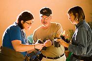 Denver Botanic Gardens. L to R - volunteer Joy Kay, shoppers Bill Boswell and Lois Vanderkooi