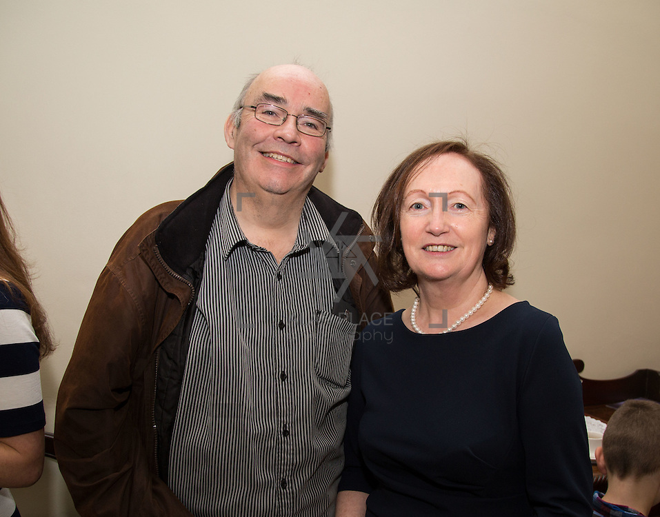 22.11.2016                   <br /> University of Limerick (UL) hosted a gala concert celebrating the music of renowned composer M&iacute;che&aacute;l &Oacute; S&uacute;illeabh&aacute;in.<br /> <br /> Pictured at a special reception before the concert were, Enda and Jean Downey.<br /> <br /> <br /> The RT&Eacute; Concert Orchestra, conducted by David Brophy, performed with M&iacute;che&aacute;l and a selection of special guests in University Concert Hall Limerick. Picture: Alan Place
