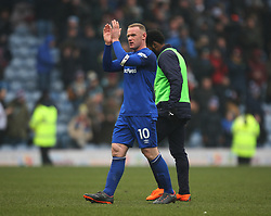 Wayne Rooney of Everton applauds the fans at the final whistle - Mandatory by-line: Jack Phillips/JMP - 03/03/2018 - FOOTBALL - Turf Moor - Burnley, England - Burnley v Everton - English Premier League