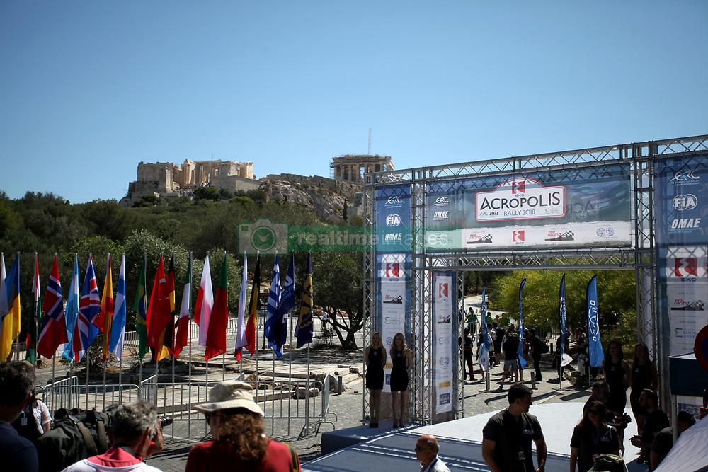 June 1, 2018 - Athens, Attica, Greece - The 2018 World Rally Championship Acropolis Rally ceremonial start under the Parthenon monument in Athens, Greece on June 1, 2018. (Credit Image: © Giorgos Georgiou/NurPhoto via ZUMA Press)