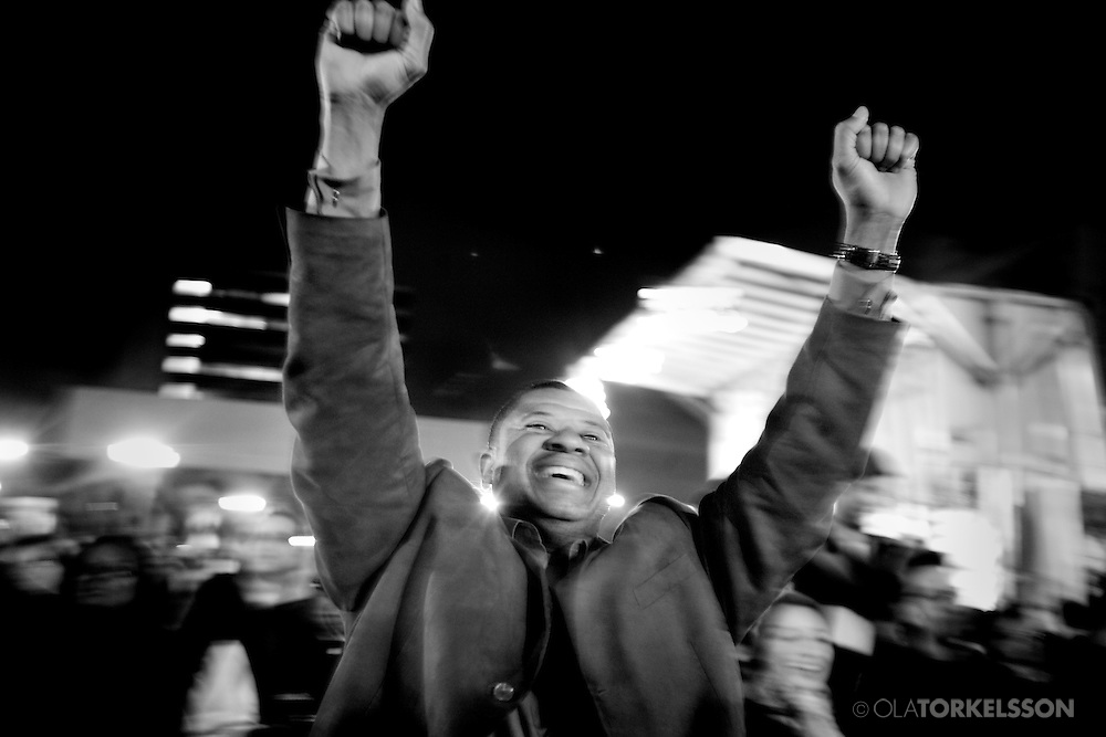 On the fourth of November 2008 , Barack Obama was elected President of the United States with over 67 million votes. In Harlem, New York, it was a day full of emotions, pride and joy. People gathered out on the streeets to celebrate.