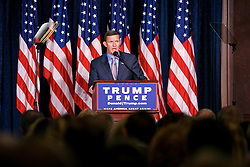 Retired Lt. Gen. Michael Flynn introduces Republican Presidential Candidate Donal Trump at a campaign event in Philadelphia, PA.