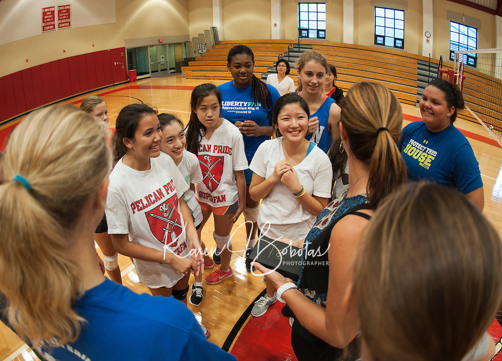 St Paul's School volleyball with Misty May Treanor. © 2013 Karen Bobotas / for St Paul's School