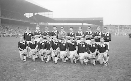 All Ireland Senior Football Championship Final, Dublin v Galway, 22.09.1963, 09.23.1963, 22nd September 1963, Dublin 1-9 Galway 0-10,...The Galway Team defeated by Dublin.Back Row Left to right S. Leyden, M. McDonagh, N. Tierney, M. MacReynolds, M. Moore, E. Colleran and S. Meade,( People  nine and ten from left unidentified).Front Row Left to Right S. Donnellan, C. Dunne, J. Keenan,  B. Geraghty, M. Garrett Captain, S. B. McDermott, P. Donnellan, M. Newell, (people nine and ten unidentified. from left)..Substitutes: T. Farrell, S. Brennan, J. Keeley, B. Geraghty ...P. Flynn, L. Hickey, L. Foley, W. Casey, D. McKane, P. Holden, M. Kissane, D. Foley (Captain), John Timmons, B. McDonald, Mickie Whelan, G. Davey, S. Behan, D. Ferguson, N. Fox..Sub: P. Downey for P. Holden..D. Foley (Captain).
