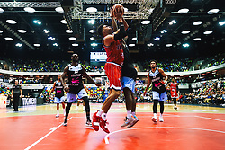 Tevin Falzon of Bristol Flyers in action as Bristol Flyers play Surrey Sharks - Rogan/JMP - 14/10/2018 - BASKETBALL - Copper Box Arena - London, England - British Basketball All-Stars Championship 2018.