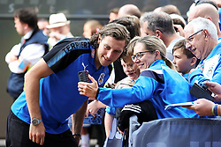 Michael Hefele of Huddersfield Town poses for pictures with fans on arrival at the John Smith's Stadium - Mandatory by-line: Matt McNulty/JMP - 26/08/2017 - FOOTBALL - The John Smith's Stadium - Huddersfield, England - Huddersfield Town v Southampton - Premier League