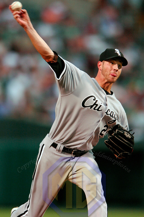 12 July 2007:  Chicago White Sox pitcher Jon Garland (20) pitches in the 3rd inning against the Baltimore Orioles.  Garland went 7 innings and only gave up 2 earned runs as the White Sox defeated the Orioles 9-7 at Camden Yards in Baltimore, MD.   ****For Editorial Use Only****