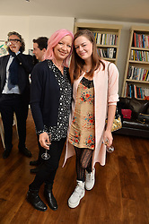 Left to right, MARY GREENWELL and DAISY CECIL at a lunch to promote the jewellery created by Luis Miguel Howard held at Morton's, Berkeley Square, London on 20th October 2016.