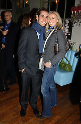JENNY HALPERN and her husband RYAN PRINCE at a party to celebrate the publication of Style by interior designer Kelly Hoppen held at 50 Cheyne Walk, London on 10th November 2004.<br />