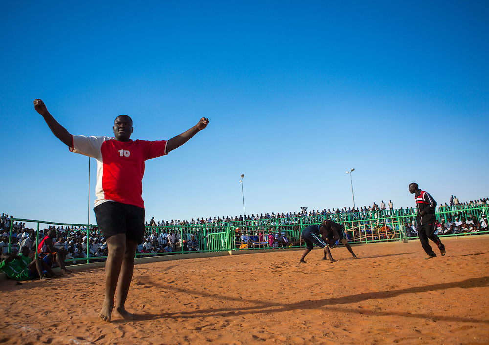 Nuba wrestlers, Khartoum, Sudan.