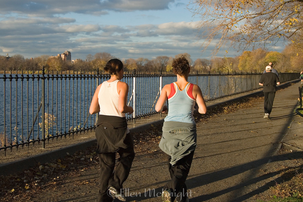 Joggers at the Reservoir in Central Park