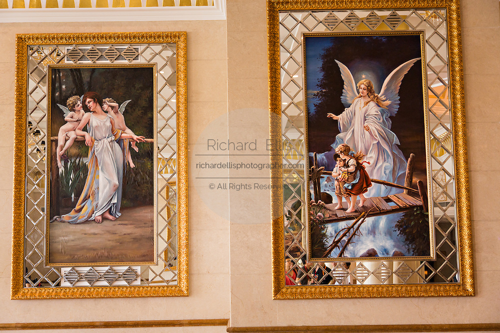 Western style religious painting decorate a Chinese wedding center in Shanghai, China
