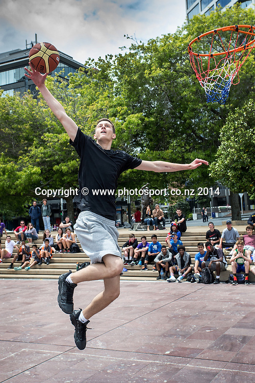 3 x 3 National Basketball Competition, Aotea Square, Auckland, New Zealand, Saturday, November 22, 2014.  Photo: David Rowland/Photosport