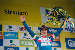 Marianne Vos (Rabo Liv) leads the sprints competition at Aviva Women's Tour 2016 - Stage 2. A 140.8 km road race from Atherstone to Stratford upon Avon, UK on June 16th 2016.