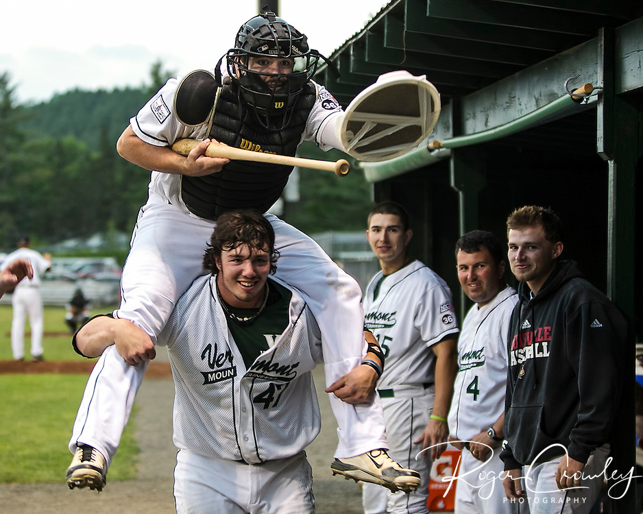 The Vermont Mountaineers offense put on a clinic in a Fourth of July Exhibition game against the Great Britain U23 team in a 15-1 victory at Montpelier Recreation Field. The game was played in seven innings and delayed almost two hours due to weather.