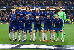 09.05.2019, Stamford Bridge, London, ENG, UEFA EL, FC Chelsea vs Eintracht Frankfurt, Halbfinale, Rückspiel, im Bild Chelsea team // Chelsea team during the UEFA Europa League semifinal 2nd leg match between FC Chelsea and Eintracht Frankfurt at the Stamford Bridge in London, Great Britain on 2019/05/09. EXPA Pictures © 2019, PhotoCredit: EXPA/ Focus Images/ Alan Stanford<br /> <br /> *****ATTENTION - for AUT, GER, FRA, ITA, SUI, POL, CRO, SLO only*****