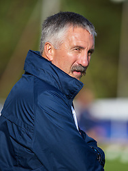 LLANELLI, WALES - Monday, August 19, 2013: France's head coach Gilles Eyquem before the Group A match against England of the UEFA Women's Under-19 Championship Wales 2013 tournament at Stebonheath Park. (Pic by David Rawcliffe/Propaganda)