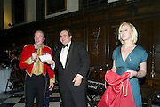 HUBERT DE BILLY DRAWING RAFFLE, Charity Dinner in aid of Caring for Courage The Royal Scots Dragoon Guards Afganistan Welfare Appeal. In the presence of the Duke of Kent. The Royal Hospital, Chaelsea. London. 20 October 2011. <br /> <br />  , -DO NOT ARCHIVE-© Copyright Photograph by Dafydd Jones. 248 Clapham Rd. London SW9 0PZ. Tel 0207 820 0771. www.dafjones.com.