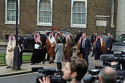 **live news rates apply**<br /> © Licensed to London News Pictures. File picture dated 07/03/2018. London, UK. A man believed to be Maher Abdulaziz Mutreb (circled red), a bodyguard suspected in the murder of  Saudi Arabian journalist Jamal Khashoggi, pictured on Downing Street as part of the Entourage of Saudi Crown Prince Mohammed bin Salman. British Prime Minister Theresa May meet Saudi Crown Prince Mohammed bin Salman at No.10 Downing during a state visit. Photo credit: Jon Almasi/LNP