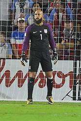 October 6, 2017 - Orlando, Florida, USA - United States goalkeeper Tim Howard (1) during a World Cup qualifying game against Panama at Orlando City Stadium on Oct. 6, 2017 in Orlando, Florida. The US won 4-0....ZUMA Press/Scott A. Miller (Credit Image: © Scott A. Miller via ZUMA Wire)