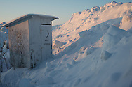 Outhouse located at the runway in Umiat, Alaska.