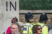 Passing the In and Out Club - Unite for Europe march attended by thousands on the weekend before Theresa May triggers article 50. The march went from Park Lane via Whitehall and concluded with speeches in Parliament Square. London 25 Mar 2017