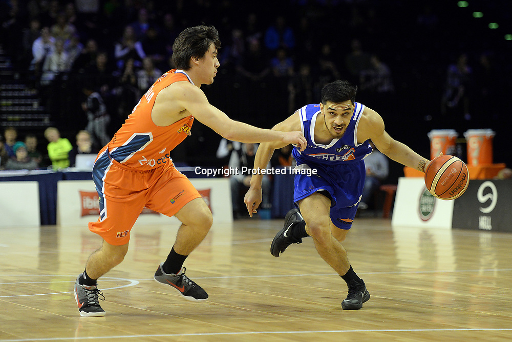 Wellington Saints' Shea Ili in action during the NBL match between Wellington Saints v Southland Sharks, TSB Arena, Friday 19th May 2017. Copyright Photo: Raghavan Venugopal / www.photosport.nz