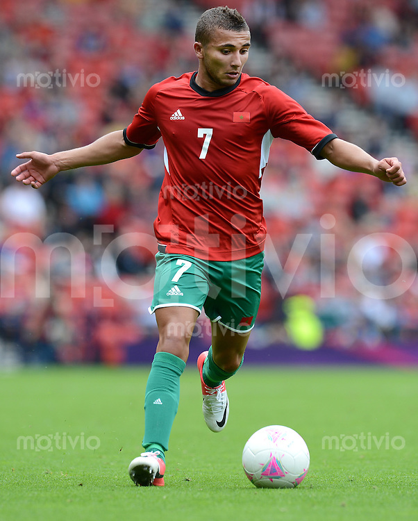 Olympia 2012 London  Fussball  Maenner   26.07.2012 Honduras - Marokko Zakaria LABYAD (Marokko)