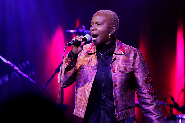 Angelique Kidjo performing at the 5th annual OkayPlayer holiday Jam at Brooklyn Bowl on December 15, 2011 ..