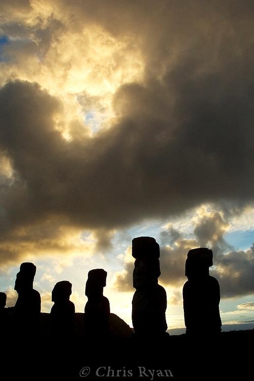 Dawn at Ahu Tongariki, Easter Island