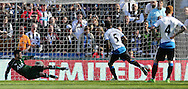 Georginio Wijnaldum (5) of Newcastle United scoring to make it 3-1 during the Barclays Premier League match at St. James's Park, Newcastle<br /> Picture by Simon Moore/Focus Images Ltd 07807 671782<br /> 15/05/2016