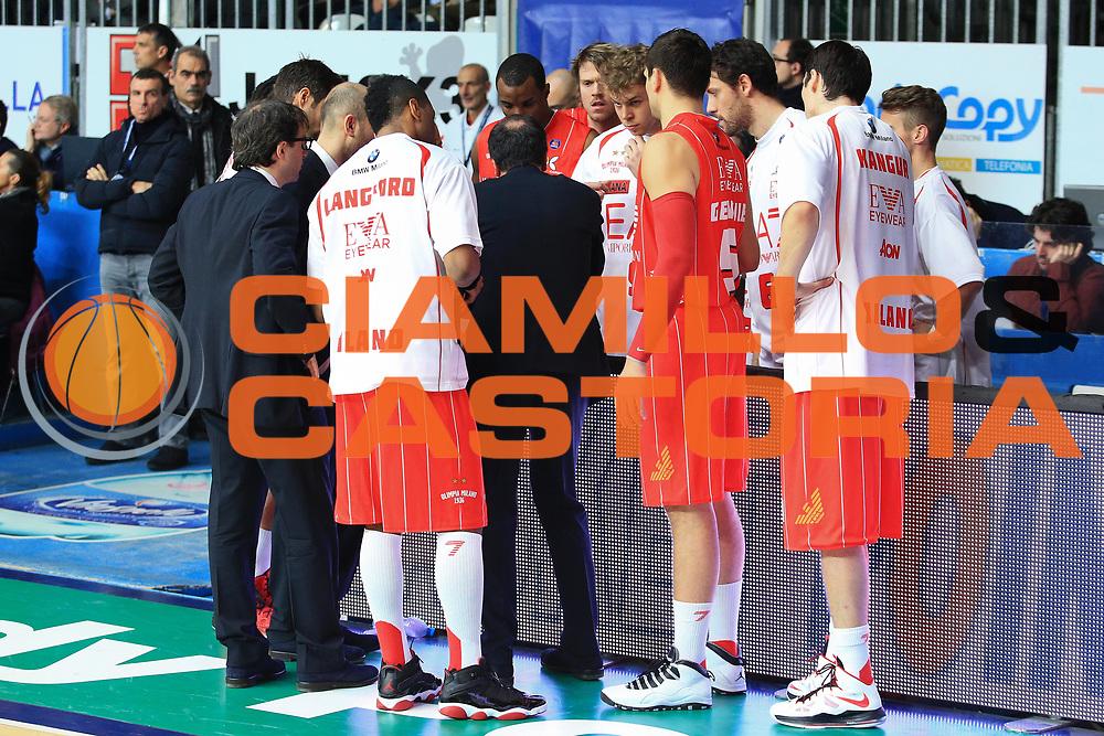DESCRIZIONE : Cant&ugrave; Lega A 2012-13 Acqua Vitasnella Cant&ugrave; EA7Emporio Armani Milano  <br /> GIOCATORE : Team<br /> CATEGORIA : Ritratto Team Pre Game<br /> SQUADRA : EA7 Emporio Armani Milano<br /> EVENTO : Campionato Lega A 2013-2014<br /> GARA : Acqua Vitasnella Cant&ugrave; EA7Emporio Armani Milano <br /> DATA : 23/12/2013<br /> SPORT : Pallacanestro <br /> AUTORE : Agenzia Ciamillo-Castoria/I.Mancini<br /> Galleria : Lega Basket A 2013-2014  <br /> Fotonotizia : Cant&ugrave; Lega A 2013-2014 Acqua Vitasnella Cant&ugrave; EA7Emporio Armani  Milano <br /> Predefinita :
