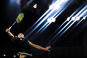 Michelle Chan of New Zealand competes in the Womens Singles quarter-final on Day 9. Glasgow 2014 Commonwealth Games. Badminton, The Emirates Arena, Glasgow, Scotland. Friday 1 August 2014. Photo: Anthony Au-Yeung / photosport.co.nz