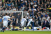 Goal celebration by Blackburn Rovers Danny Graham  during the EFL Sky Bet Championship match between Blackburn Rovers and Leeds United at Ewood Park, Blackburn, England on 20 October 2018.