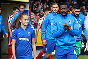 *** during the EFL Sky Bet League 1 match between AFC Wimbledon and Sunderland at the Cherry Red Records Stadium, Kingston, England on 25 August 2018.