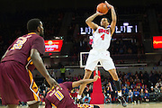 DALLAS, TX - DECEMBER 29: Keith Frazier #4 of the SMU Mustangs shoots the ball over the Midwestern State Mustangs on December 29, 2014 at Moody Coliseum in Dallas, Texas.  (Photo by Cooper Neill/Getty Images) *** Local Caption *** Keith Frazier