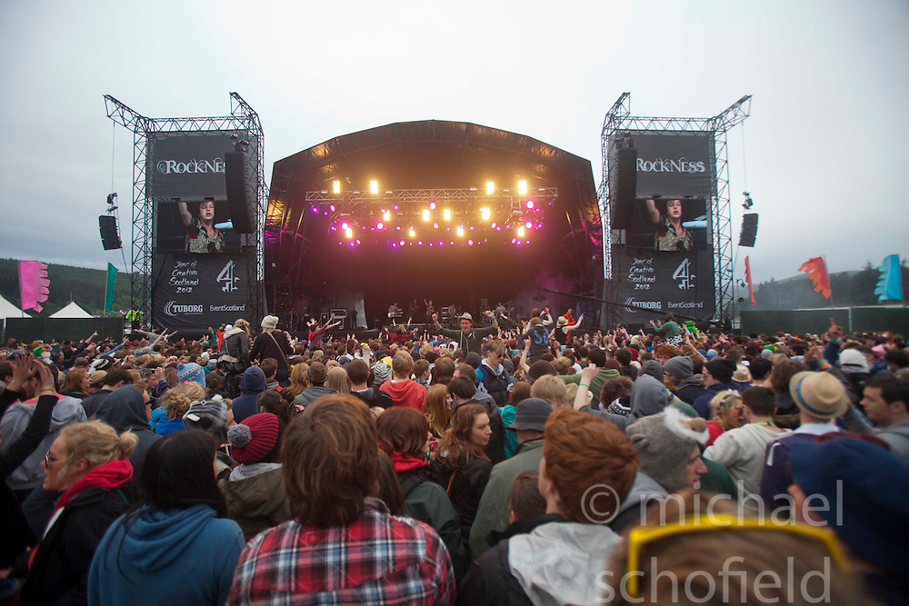 The main stage..Sunday at Rockness 2012..©Michael Schofield..