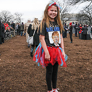 On January 20, 2017, President Donald J. Trump became the 45th president of the United States. Hundreds of thousands of people gathered in Washington D.C. to bear witness, protest and show support during the Inaguration and the Women's March.