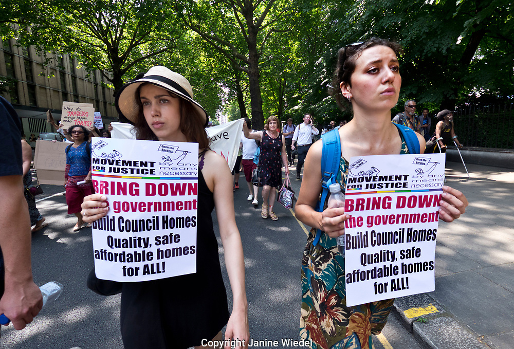 Following the fire at Grenfell Tower, friends and members of the community marched  from Shephards Bush to Westminster on  the Day of Rage.  21 June 2017