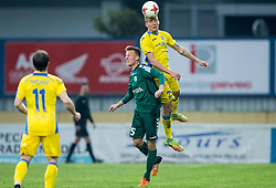 Marko Bedek of Krka vs Jure Balkovec of NK Domzale during football match between NK Domzale and NK Krka in Semifinal of Slovenian Football Cup 2016/17, on April 4, 2017 in Sports park Domzale, Slovenia. Photo by Vid Ponikvar / Sportida
