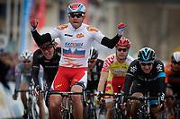 Sykkel<br /> Foto: PhotoNews/Digitalsport<br /> NORWAY ONLY<br /> <br /> 01.04.2015<br /> Koksijde  - Belgium - wielrennen - cycling - radsport - cyclisme -  Alexander Kristoff (Team Katusha)  - Elia Viviani (Team Sky) - Shane Archbold (Team Bora - Argon 18)  pictured during Driedaagse van de Panne Stage - 2